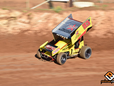 Becker Thrills Crowd with Charge To Third at Placerville Speedway