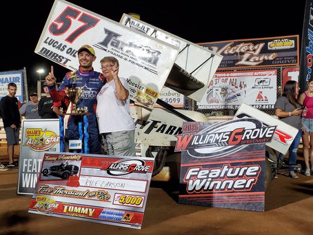 Kyle Larson Continues Hot Summer on Dirt with KSE Racing Products