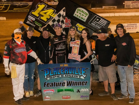 Robinson Picks Up First Career Placerville Speedway Feature Event Win