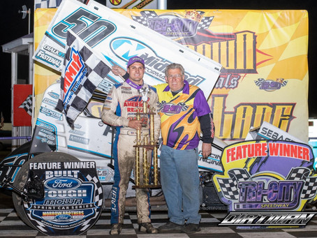 Paul Nienhiser Wins First 410ci Start in Midland Performance No. 50