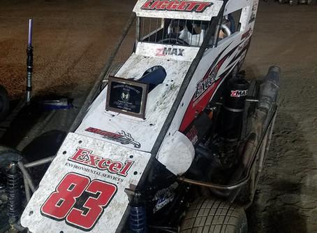 Austin Liggett Pockets Midget Win at Antioch Speedway