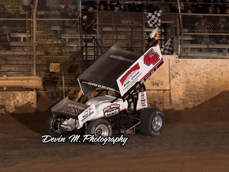 Justin Sanders and Dale Miller Motorsports Win Third Consecutive Placerville Speedway Feature Event