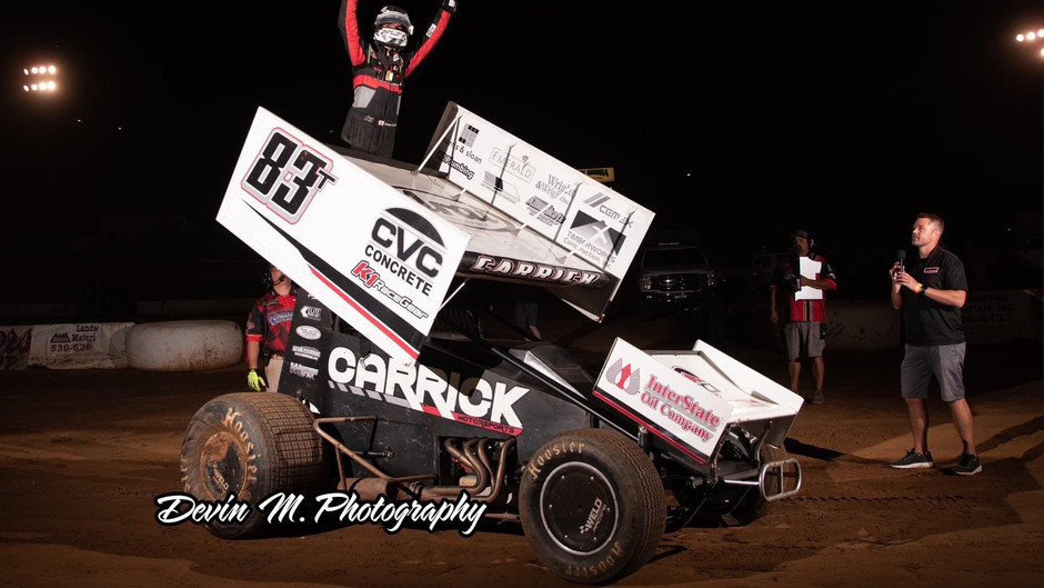 Tanner Carrick Wins Thriller at Placerville Speedway