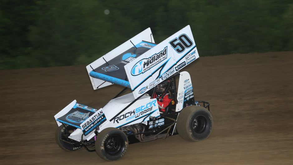 Nienhiser Second Against Sprint Invaders with Midland Performance No. 50 Car
