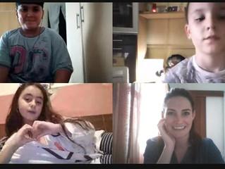 Finalizamos las videollamadas con nuestros chicos y chicas