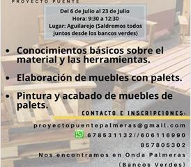 Comienza el nuevo Curso de Elaboración de Muebles de Palets.