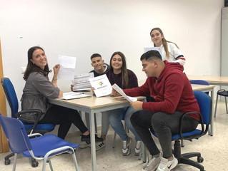 """Jóvenes trabajan sobre el encuentro Erasmus+ 2019, """"HANS 4 YOU"""""""
