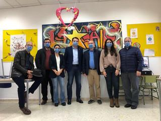 Visita del alcalde y firma de convenio de colaboración