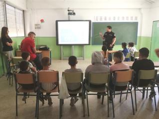 Charla de la Policía Local. Colegio Duque de Rivas