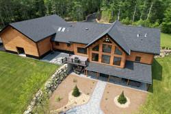 Log Home, OC Onyx Black Roof