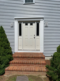 Bridgewater, Sterling Gray Beantown installed PVC door surround