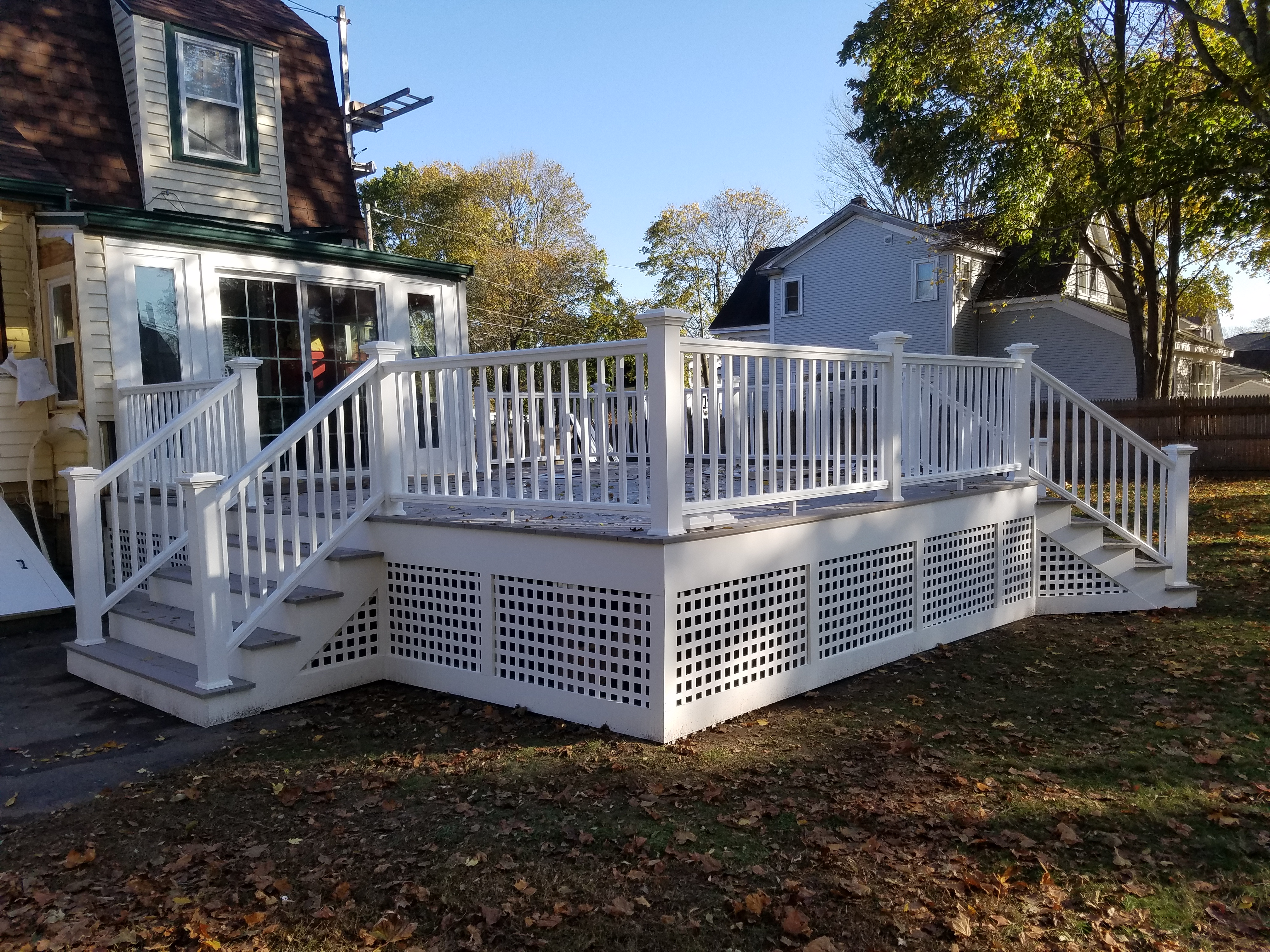 Slate Gray Deck with Lattice Weymouth