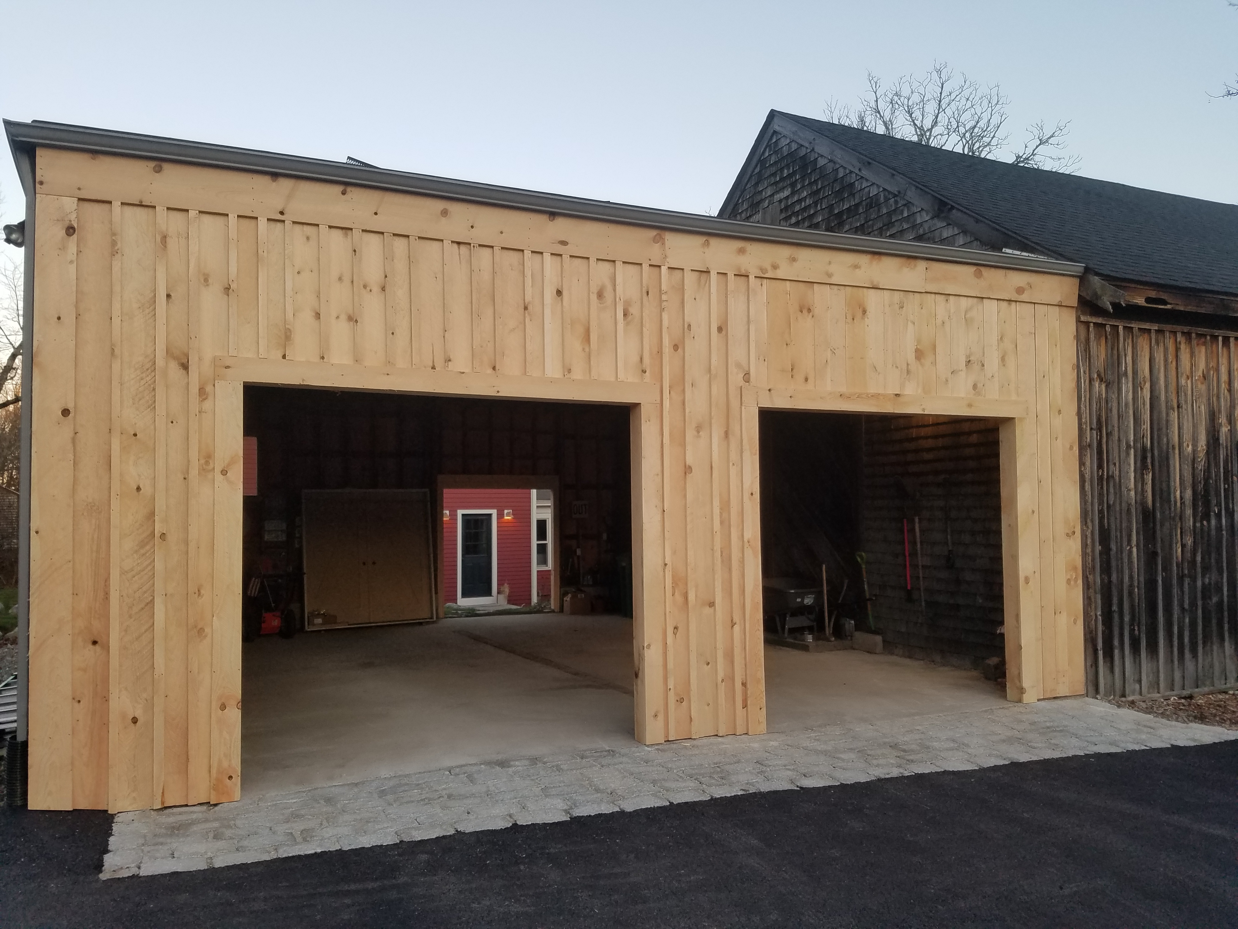 Garage Frame Out in Easton