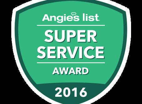 Beantown Home Improvements Earns Esteemed 2016 Angie's List Super Service Award