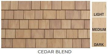 Cedar Impressions Individual Sawmill Shingle - Cedar Blend