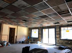 Reclaimed Metal Drop Ceiling