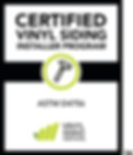 VSI Certified siding installer