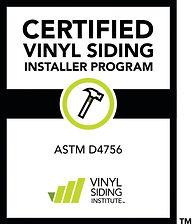 VSI Certified siding installer