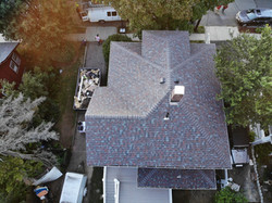 Drone View, Quincy Roof, Colonial Slate.