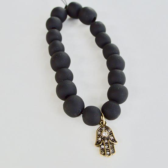 Hamsa Hand Bracelet Black