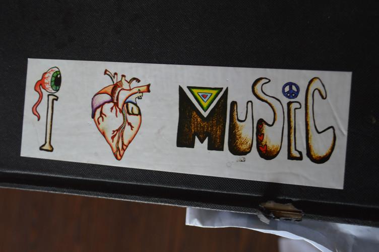 I Heart Music Sticker - $5