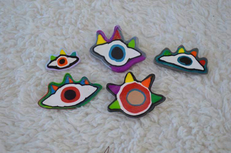 Assorted Eyeball Pins