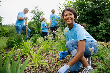 Volunteers working for the environment