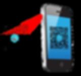 Mobile phone scanning OA QR Code.png