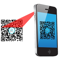 Mobile phone scanning OA QR Code