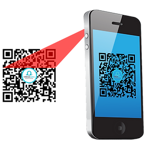 Mobile phone scanning OA QR Code.png