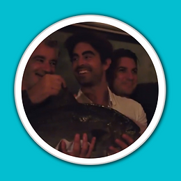 James and Cody Holding Baja Kanpachi at
