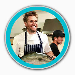 Chef Curtis Stone Holding Baja Kanpachi