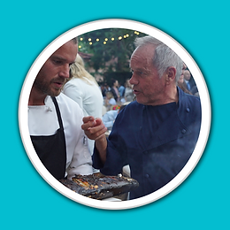 Chef Wolfgang Puck and Chef Eric Garner