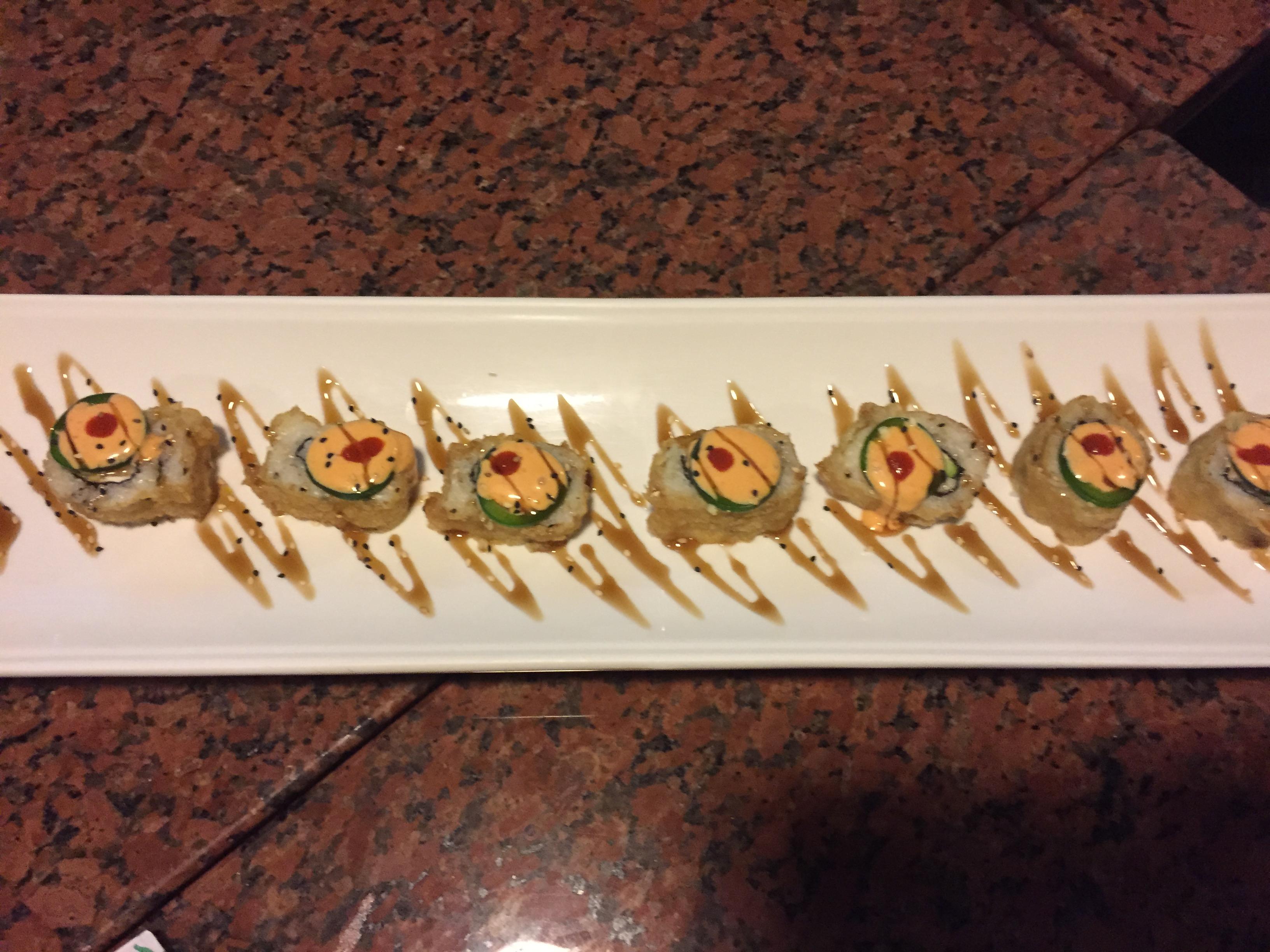 Spicy Baja Kanpachi Rolls