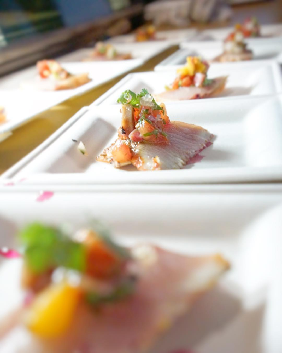 Achiote Rubbed Seared Baja Kanpachi Sashimi