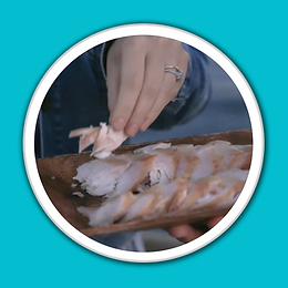 Zooey Deschanel Trying Baja Kanpachi Clo
