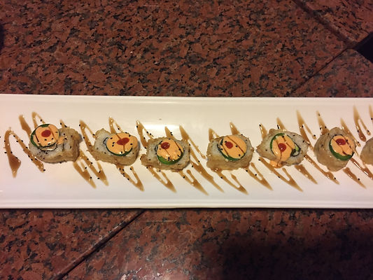 Omega Azul's Baja Kanpachi (also known as kampachi, amberjack, or longfin yellowtail) Spicy Sushi Roll