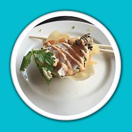 Baja Kanpachi Seared Sashimi Tacos White