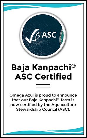 Baja Kanpachi Now ASC Certified
