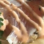 Baja Kanpachi sashimi tacos