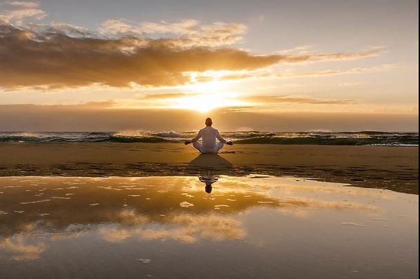 yoga meditation silhouette lotus sunrise