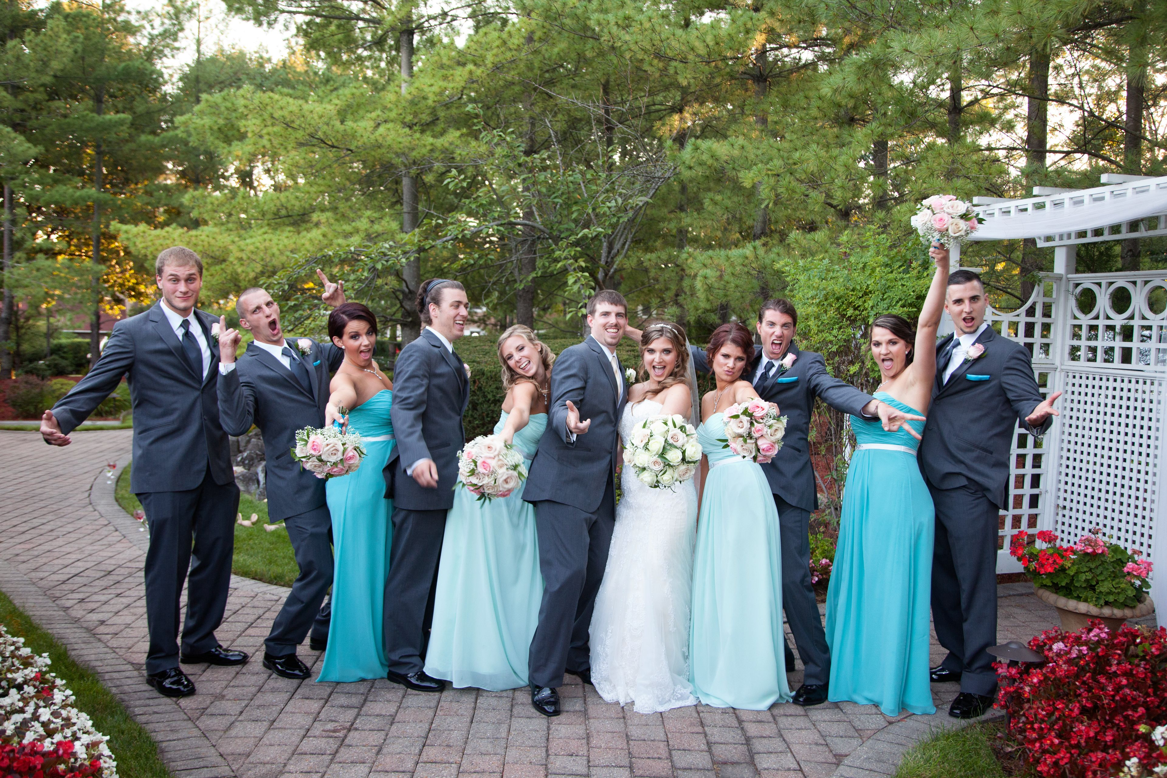 Kim's bridal party