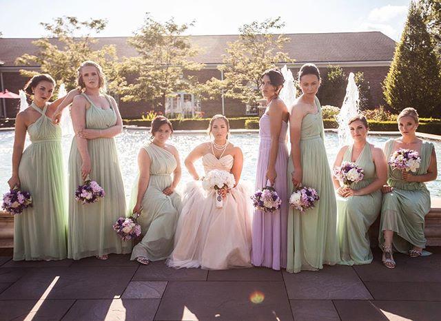 Summer wedding. Celeana & her party