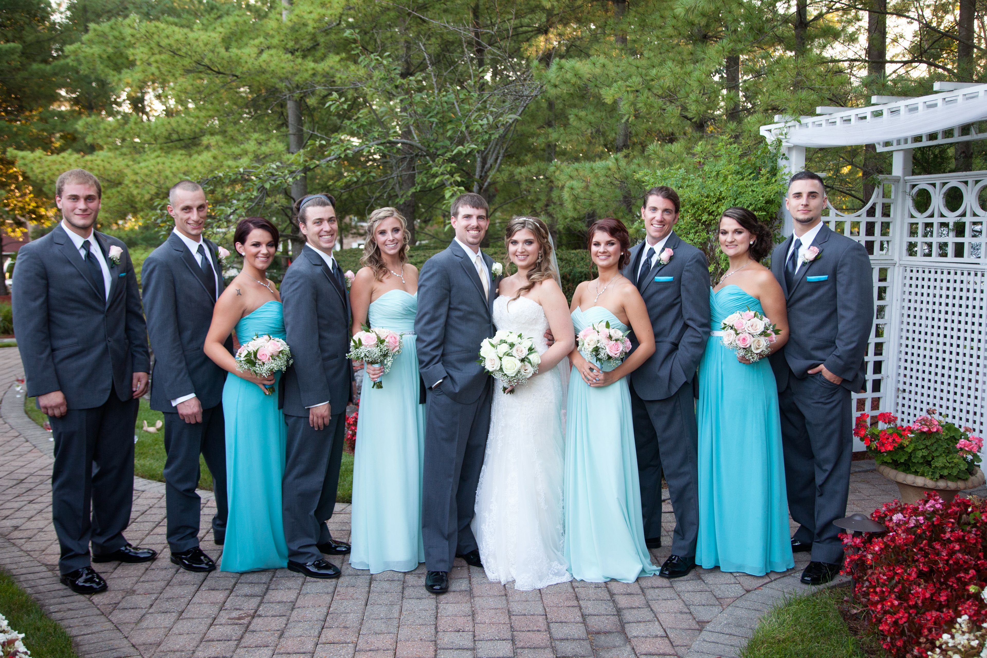 Kim and her bridal party