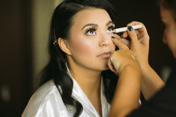 Final touches for Bride Theresa