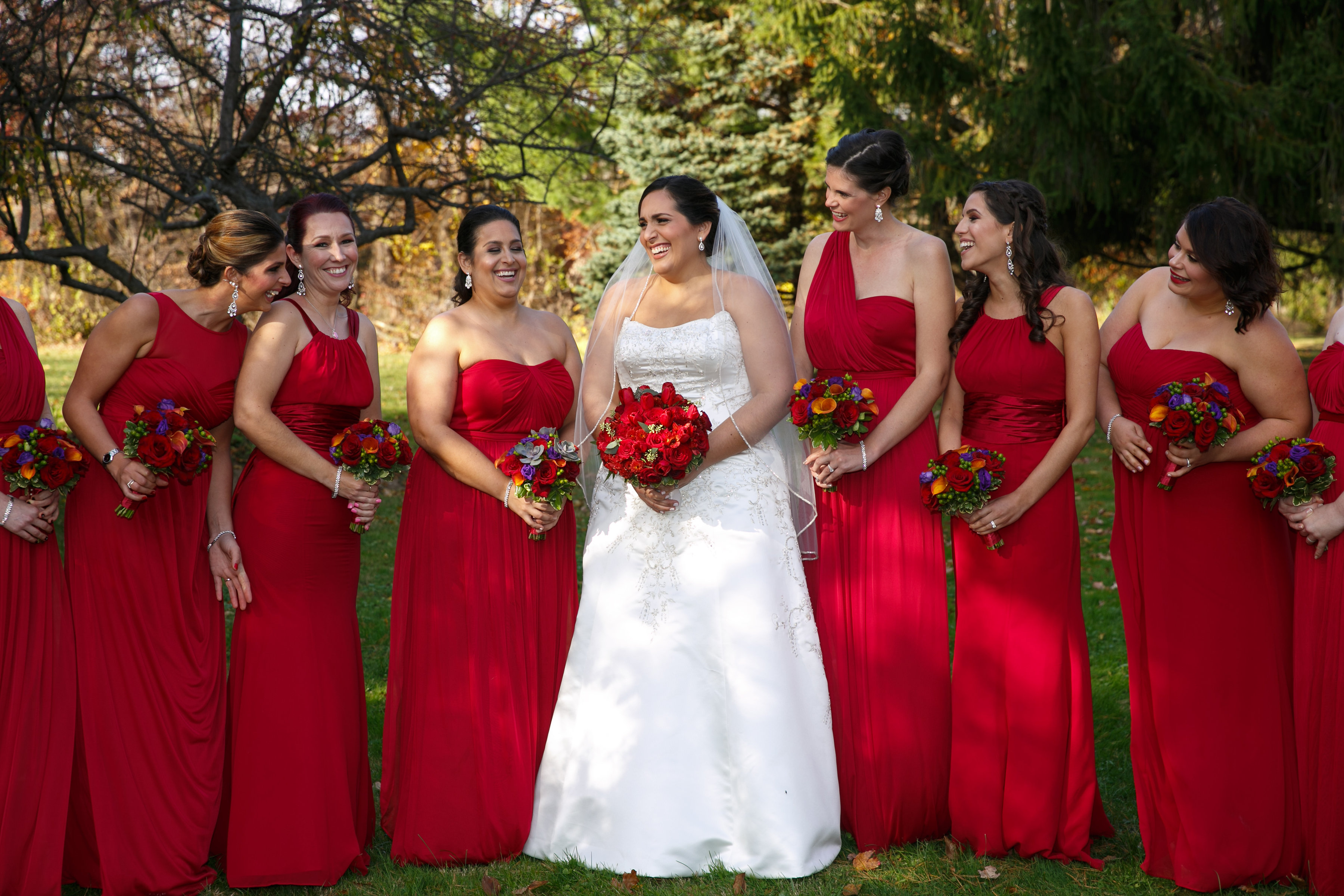 Maria and her bridesmaids