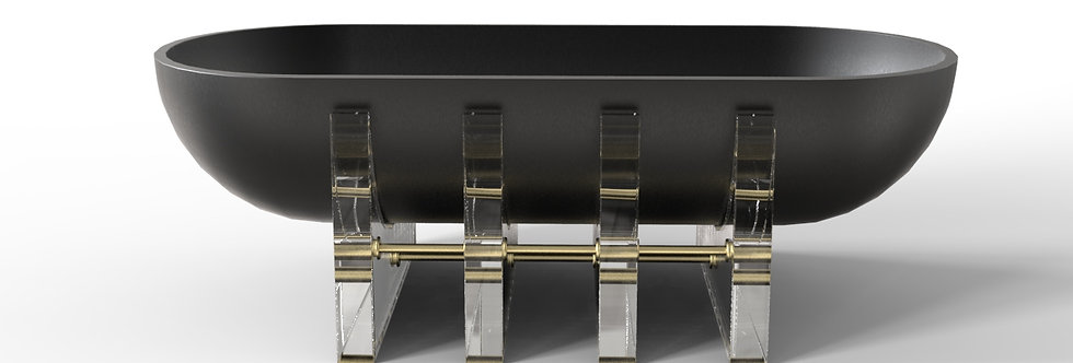 ATHA BOWL- Patinated Black Steel  By Miminat Designs