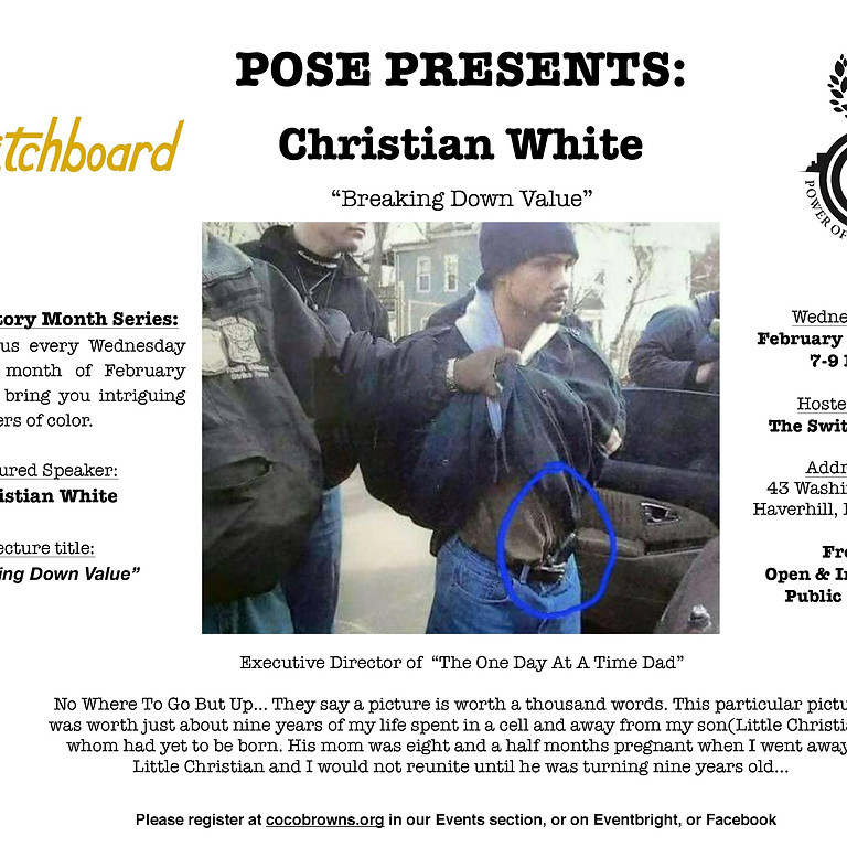 Black History Month 2019 Lecture Series - Chrisitan White