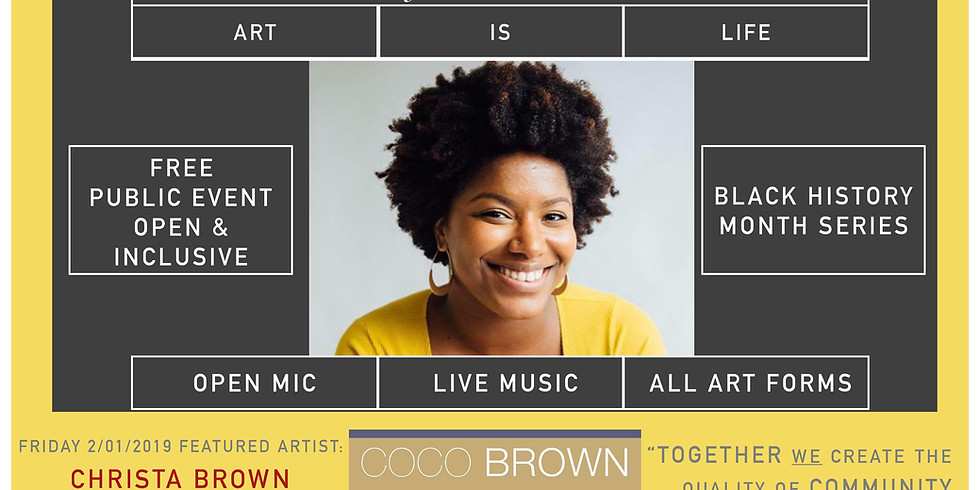 Welcoming Room: Open Mic Nights - Black History Month Series- Christa Brown