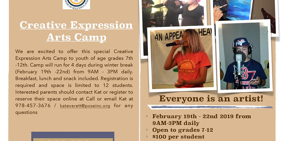 Creative Expressions' Arts Camp